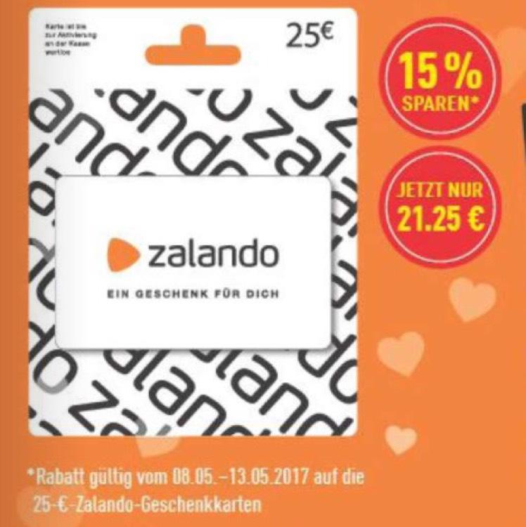 25€ Zalando Geschenkkarte für nur 21,25€ | Marktkauf