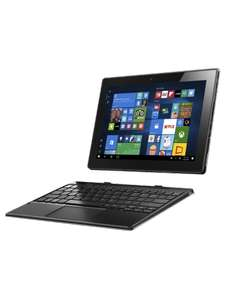 [mobilcomdebitel] Lenovo Miix 310 25,65 cm (10,1 Zoll HD) Tablet PC (Intel Atom x5-Z8350 Quad-Core Prozessor, 4GB RAM, 64GB eMMC, Intel HD Grafik, Touchscreen, LTE, Windows 10) silber inkl. AccuType Tastatur