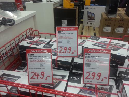 Sony Tablet S 16GB für 249€ bzw. 32GB oder 16GB+3G für 299€  im MM Frankfurt NWZ