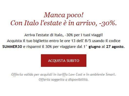 30% Rabatt auf die private italienische Bahn Italotreno