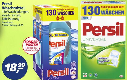 [real] Persil Waschmittel 130 Waschladungen (0,15 EUR/WL)