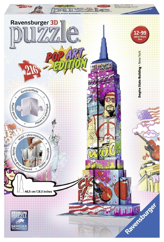 [Amazon-Prime] Ravensburger 3D-Puzzle Pop Art - Vergl.P. 14,50 - UVP 27,99