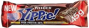 Weider Yippie Bar Brownie-Vanille 18x45g für 12,72€ bei Amazon(Warehousedeals)