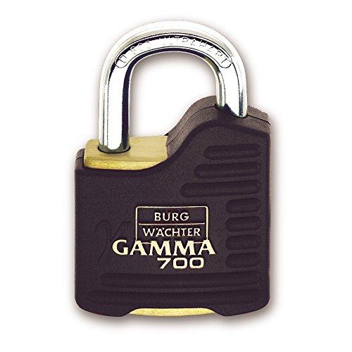 BURG-WÄCHTER Vorhängeschloss, 9 mm Bügelstärke, Ultrahart, Bohr- und Kneifschutz, 2 Schlüssel, Gamma 700 55 [Amazon Prime]