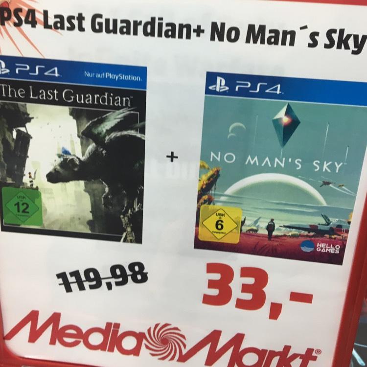 (Lokal) The Last Guardian & No Man's Sky für 33€ oder beide Games mit PS4 Slim 500GB für 222€ | Mediamarkt Gütersloh