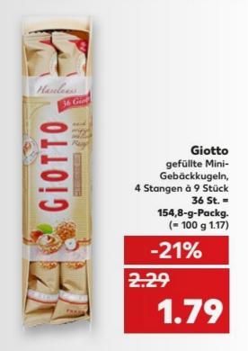 [lokal Kaufland Kiel] Giotto für 1,79€ statt 2,29€ (15.05-17.05.2017)