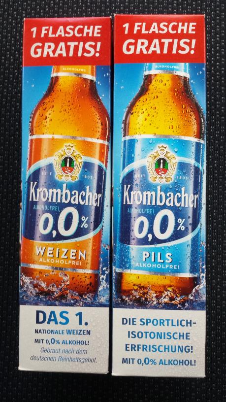 Lokal? Real Essen Porscheplatz - Krombacher Weizen oder Pils ALKOHOLFREI für  nur 8 Cent Pfand insgesamt