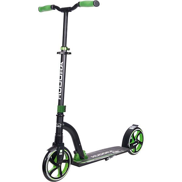 HUDORA Big Wheel Flex 200 Scooter, grün - Tret-Roller Stoßdämpfung