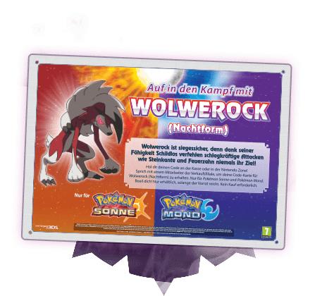 [Nintendo 3DS] [GameStop] Pokémon Wolwerock gratis bekommen vom 05.05.2017 - 31.05.2017 (Sonne und Mond)
