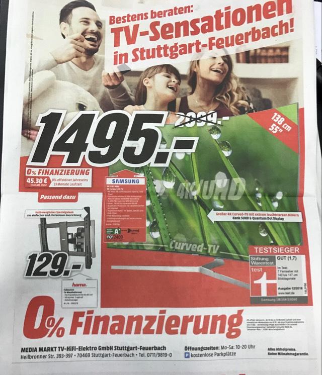 SAMSUNG UE 55 KS 9090/ Quantum Dot Technologie - 100Hz - Input Lag ca. 20ms / lokal MM Stuttgart-Feuerbach / nationaler Versand auf Anfrage möglich