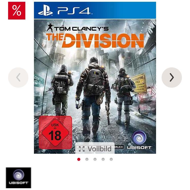 """15€ Neukunden Rabatt z.B """"The Division"""" ps4 effektiv für 4,99 € ohne Versandkosten."""