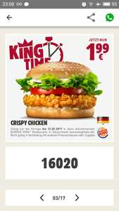CRISPY CHICKEN [BURGER KING APP]
