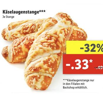 [Lidl ab 15.05.] Käselaugenstange für nur 0,33€ (32% günstiger)