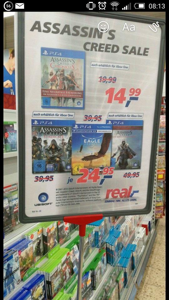 Eagle Flight (PS4 VR) +  Assassins Creed Sale @ REAL Passau