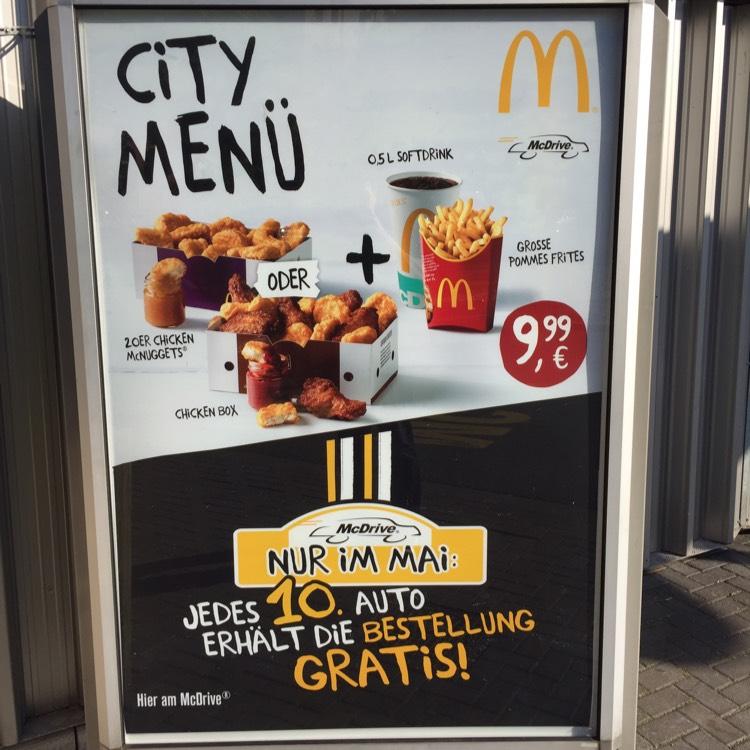 [Lokal Berlin] Jedes 10.Auto gratis bei McDrive im McDonald's Wrangelstraße