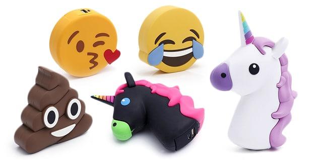 Emoji-Powerbank für Smartphones und USB-Geräte (2000mAh) für 8,90€