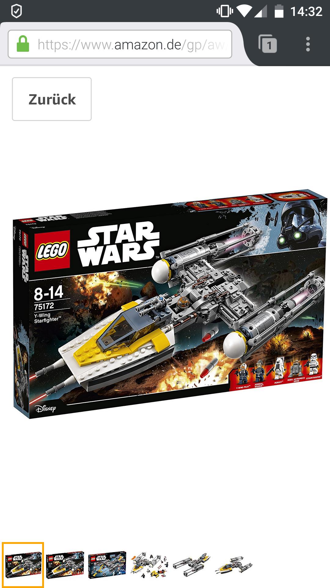 Lego Star Wars 75152 Y-Wing Starfighter