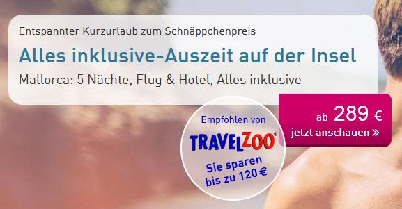 (LTUR:com) 2 Personen 6 Tage / 5 Nächte Mallorca , Flug & Hotel mit 90% HolidayCheck + Transfer, Zug zum Flug und Alles Inklusive (289€/Person) (viele Abflughäfen, Pfingsten ab 344€/Person)
