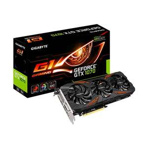 8GB Gigabyte GeForce GTX 1070 Gaming G1 Aktiv @ amazon.fr Warehousedeals - 40x sehr gut / wie neu - Neu für 386