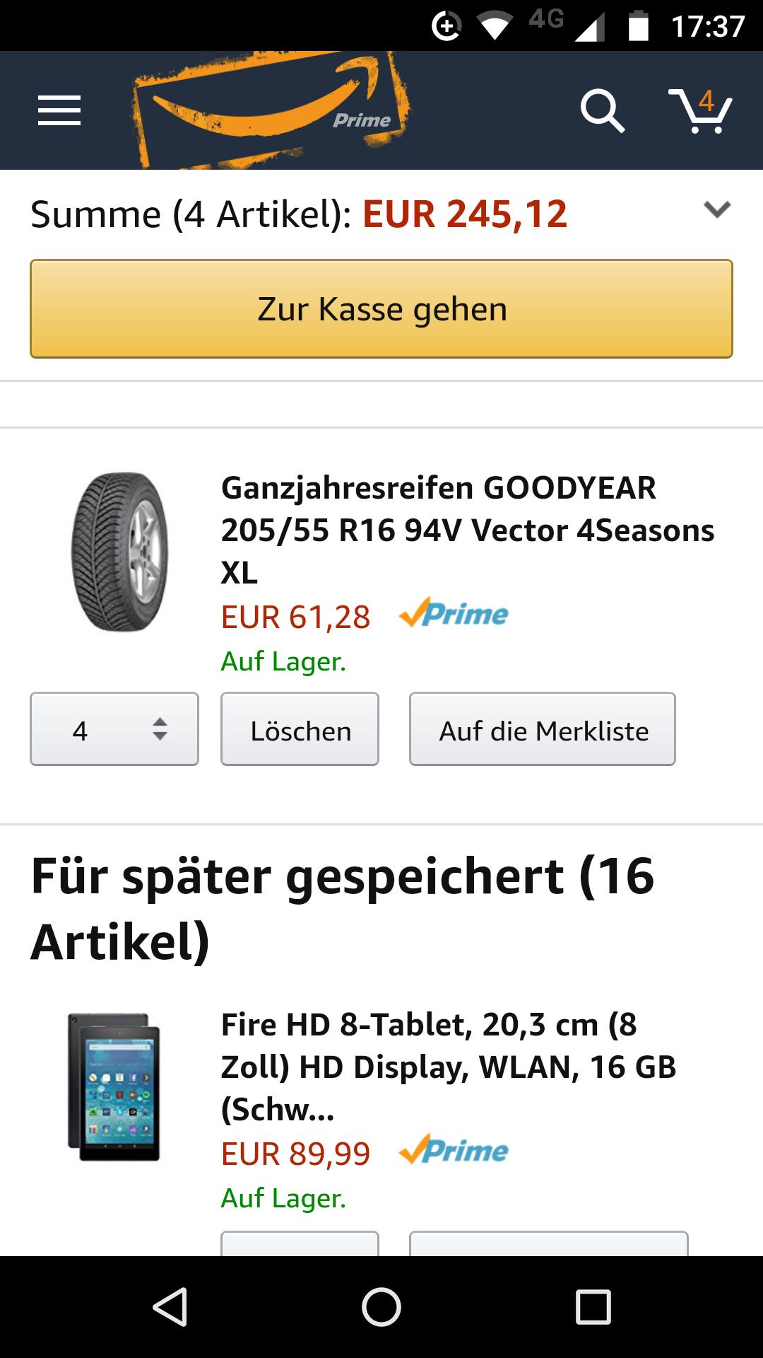 Ganzjahresreifen GOODYEAR 205/55 R16 94V Vector 4Seasons XL