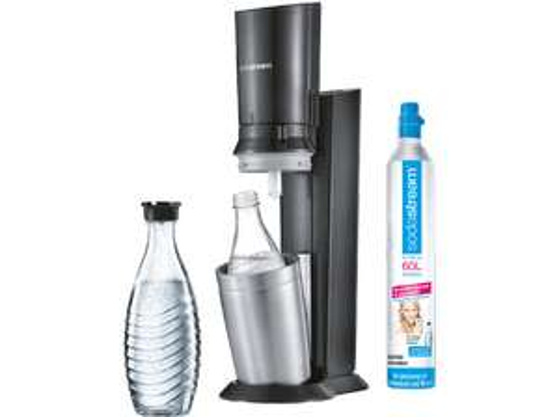[Online] Sodastream Crystal 2.0 Wassersprudler Titan + 1x Glaskaraffe
