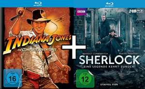 [Thalia App]: Indiana Jones - The Complete Adventures (10,39 €) + Sherlock Staffel 4 (14,23 €) Blu-Rays