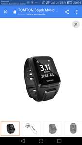 TOMTOM SPARK MUSIC SMALL INKL. BLUETOOTH-OHRHÖRER, GPS FITNESS UHR, S (121-175 MM), SCHWARZ  , saturn late night