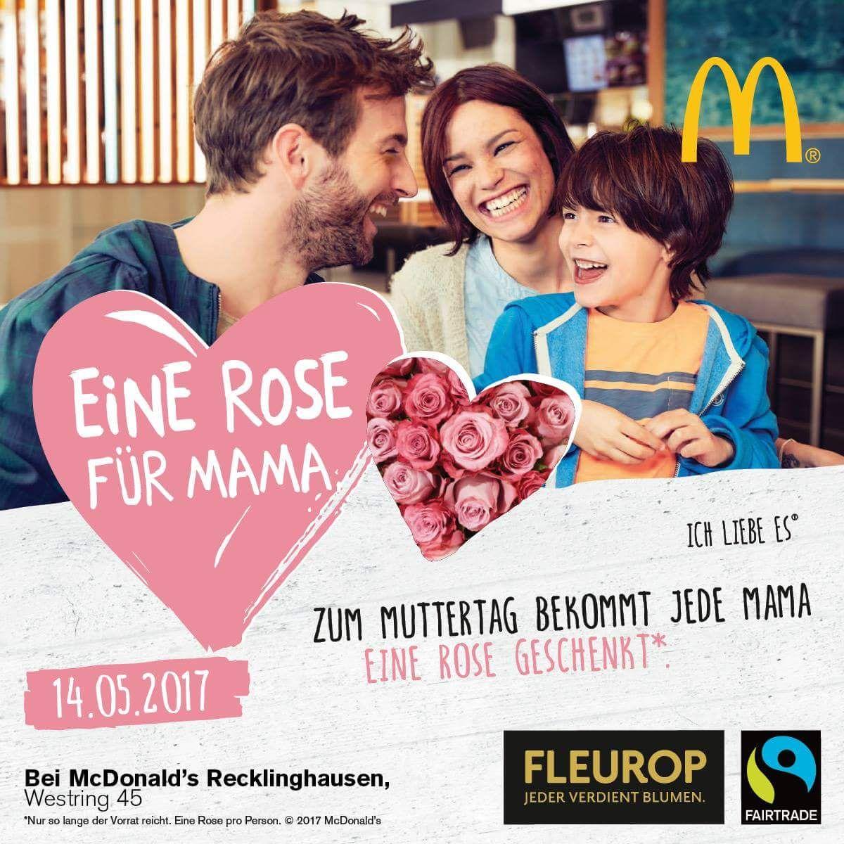 [Lokal diverse McDonalds Filialen] Gratis Rose für alle Mütter am 14.05