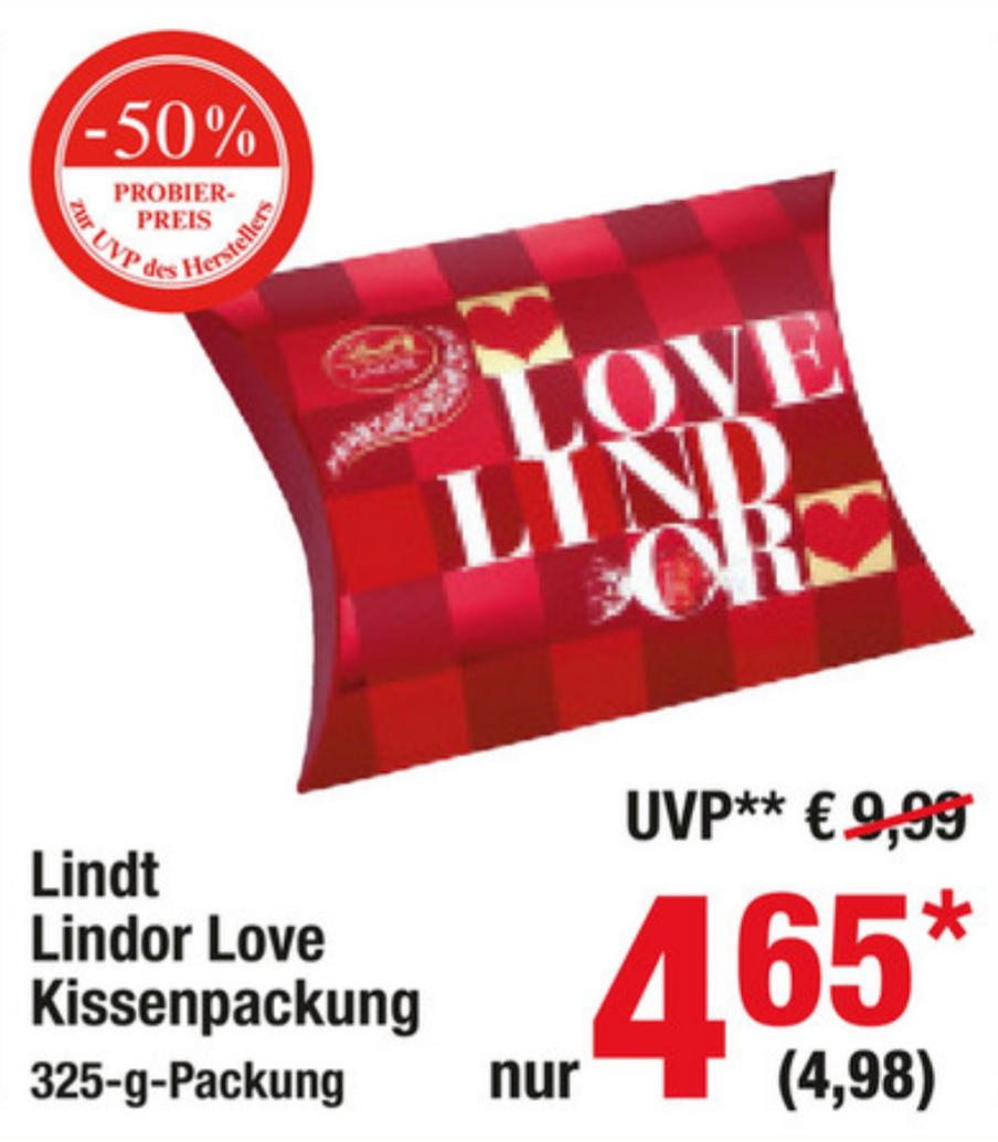 [Metro] Lindt Lindor Love 325g-Packung, ~1,53€/100g