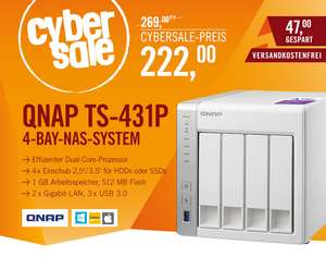 CyberSale - QNAP TS-431P NAS System 4-Bay