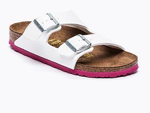 Birkenstock Arizona (schmales Fußbett) in weiß/rosa + 2 weitere Varianten für 33,50€ inkl. VSK bei [Vente-Privee]