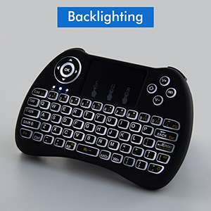 Lynec H9 2.4GHz Wireless Backlight Tastatur Mouse Remote mit Touchpad