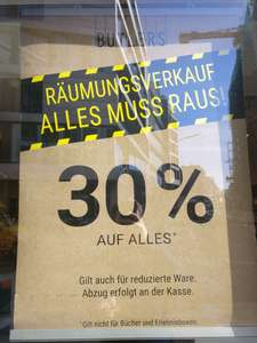 Butlers Räumungsverkauf Hamburg Innenstadt