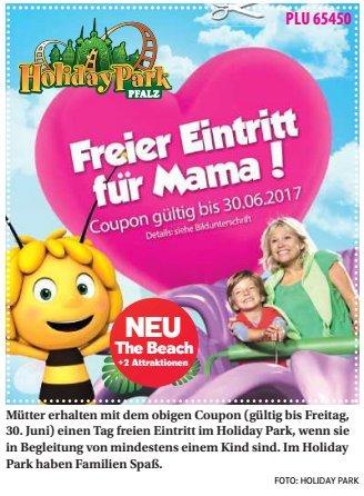 [Holiday Park] Freier Eintritt für Mütter bis 30.Juni mit Coupon