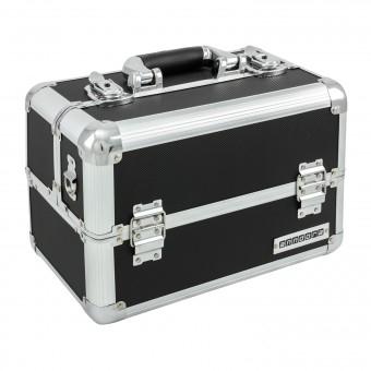 anndora Beauty-Case/Werkzeug-Case 20 Liter Schwarz (Etagenkoffer, Aluminium)