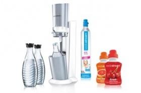SodaStream Crystal Design Super-Spar-Pack Wassersprudler weiß