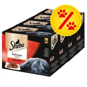 Sheba Nassfutter für Katzen in Soße 48x 85gr (pro Schälchen 0,31€)