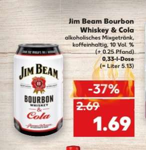 Kaufland 3 Jim Beam Bourbon  Cola Dosen dealpreis = angebot + coupon ca 1,19€ pro Dose