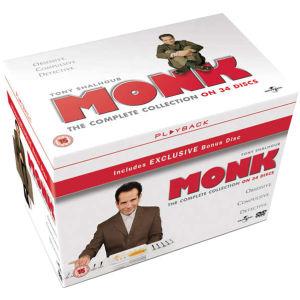 Monk - Die komplette Kollektion auf DVD mit englischer Tonspur[Zavvi]