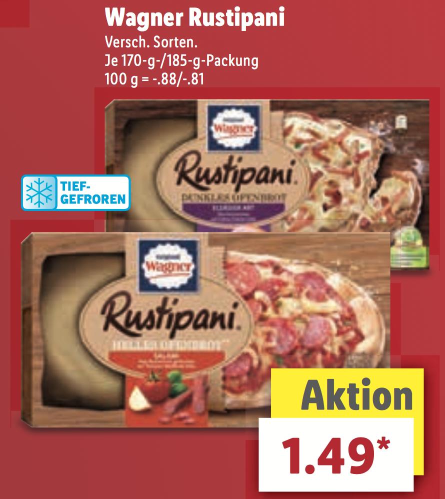 [Lild] Wagner Rustipani verschiedene Sorten jeweils 1,49€ am Samstag 20.05.2017