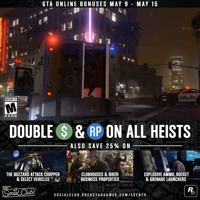 Double $ und RP in GTA V Online