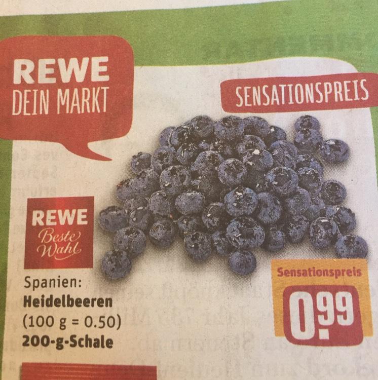 [REWE] Heidelbeeren 200g - 0,99€