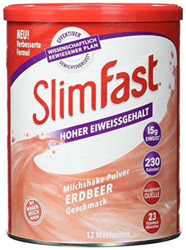 [Amazon - 9,99€] Slim Fast Drink Pulver Erdbeere, 438 g