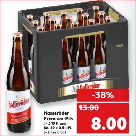 [Kaufland] Hasseröder Premium Pils, 20 x 0,5l, die Kiste für 8,00 Euro statt 13,00 Euro