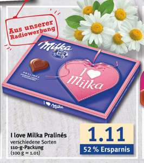 [Combi] i Love Milka für 0,91€ beim Kauf von 5