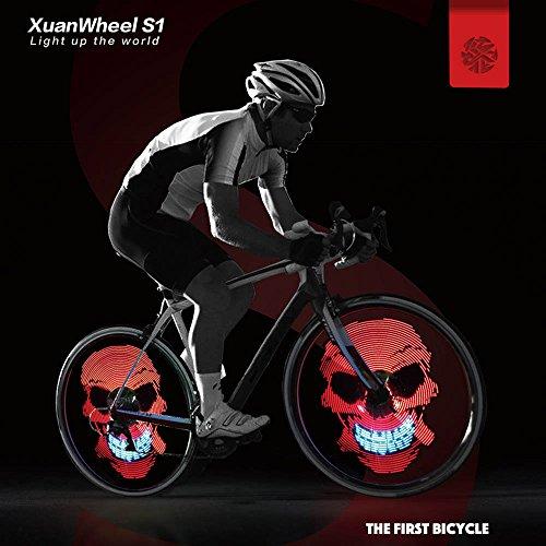 [PRIME]XuanWheel LED RGB Fahrradreifen Beleuchtung Bluetooth APP 192 LEDs IPX6 wasserfest anstatt 35,99€