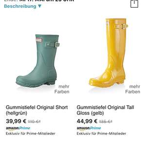 Hunter Gummistiefel bei Amazon buyVip