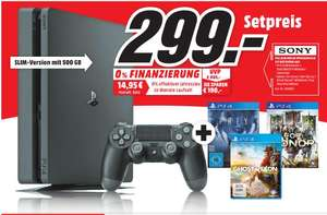 [Lokal Mediamarkt Weiden] Playstation 4 Slim mit 500GB inc den Spielen Prey,For Honor und Ghost Recon für 299,-€