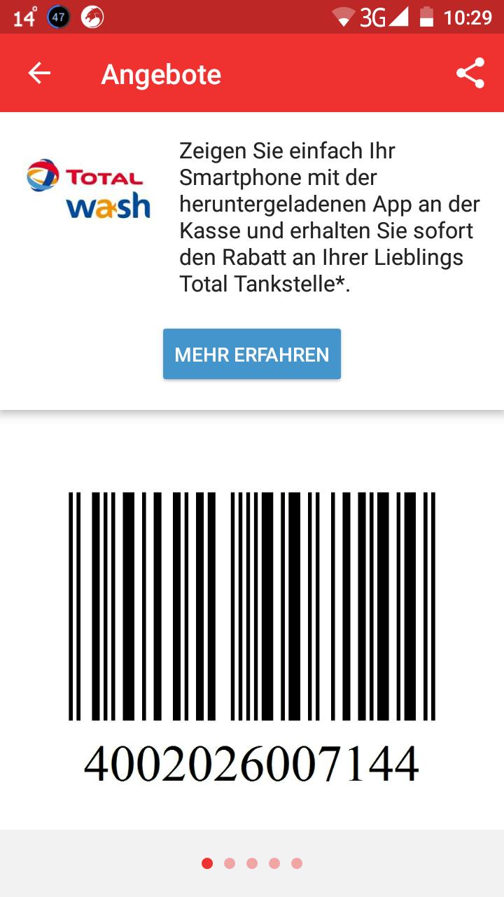 Unsere Beste Total Tankstellenwäsche 7,99€ statt 13,99
