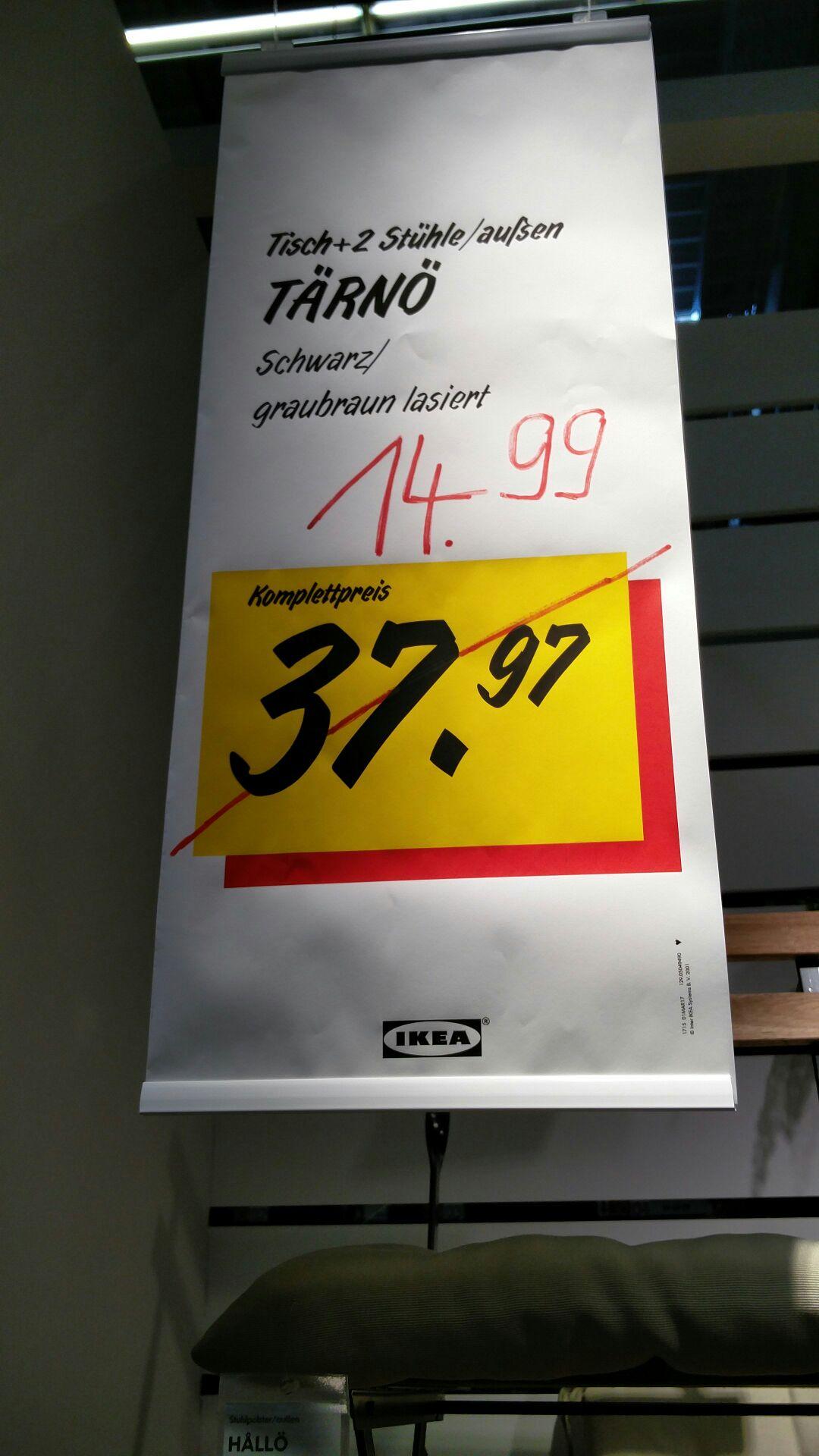 [lokal Berlin Waltersdorf] IKEA Tärnö Tisch + 2 Stühle